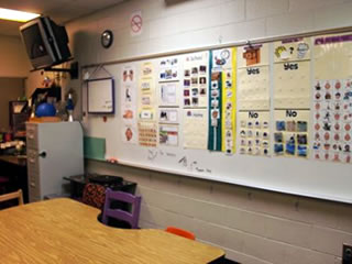Class schedules, rules & specific student tasks assigned.