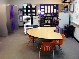 Example of a structured environment for ASD middle school students.